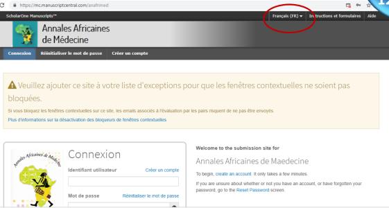 La Soumission Des Articles En Ligne Est Maintenant Fonctionnelle Sur Anafrimed.net